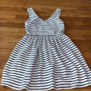Navy and white Bloomingdales dress